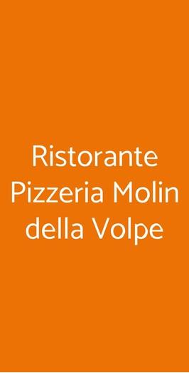 Ristorante Pizzeria Molin Della Volpe, Pescaglia