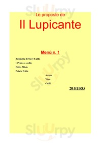Menu Il Lupicante