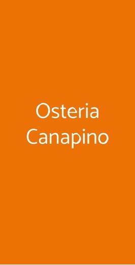 Osteria Canapino, Lucca