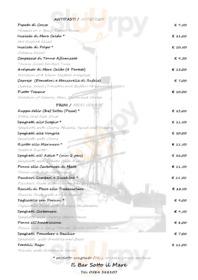 Menu Il Bar Sotto Il Mare