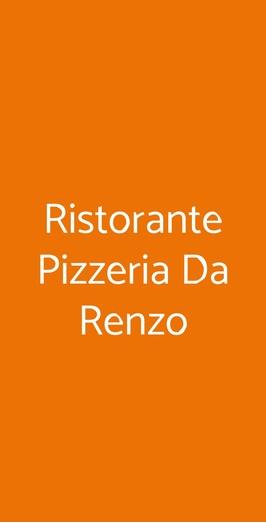 Ristorante Pizzeria Da Renzo, Massarosa