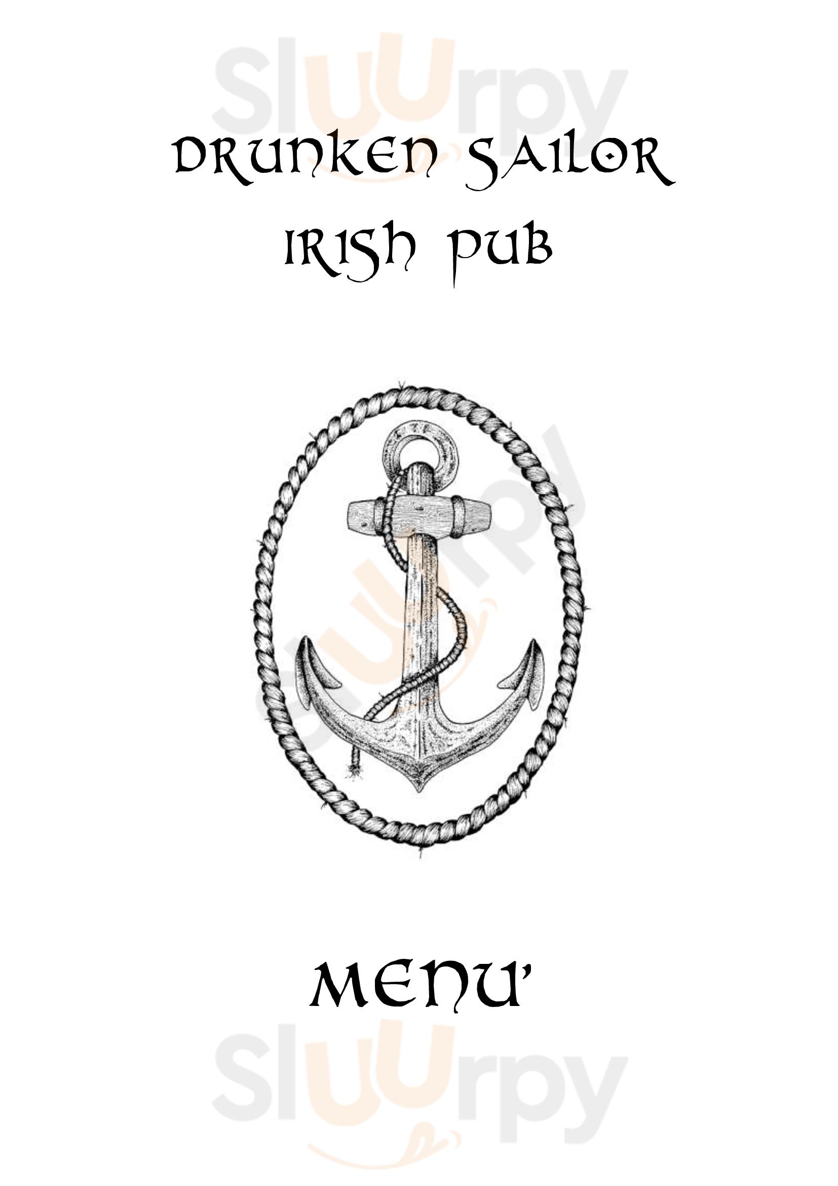 Drunken Sailor Irish Pub Viareggio menù 1 pagina