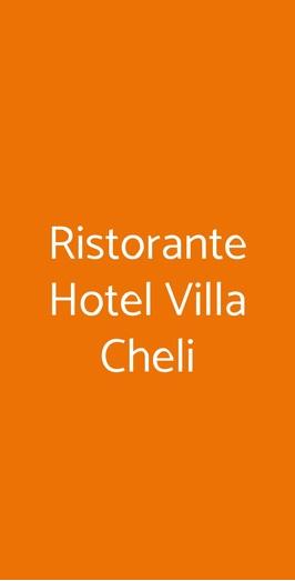 Ristorante Hotel Villa Cheli, Lucca
