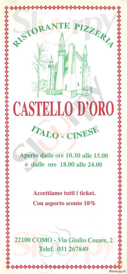 CASTELLO D'ORO Como menù 1 pagina