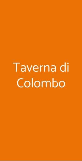 Taverna Di Colombo, Genova