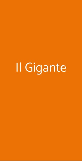 Il Gigante, Genova