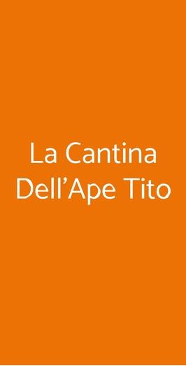 La Cantina Dell'ape Tito, Genova