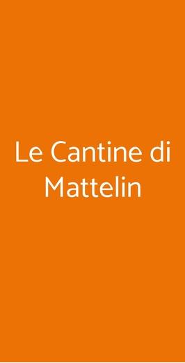 Le Cantine Di Mattelin, Genova