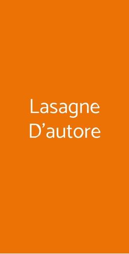 Lasagne D'autore, Genova