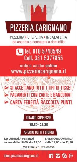 Pizzeria Carignano, Genova