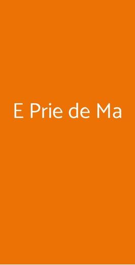 E Prie De Ma, Genova
