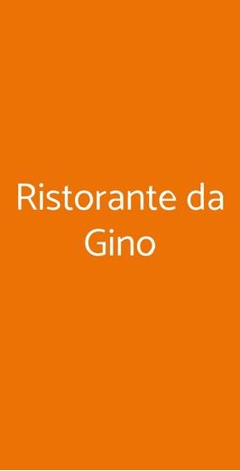 Ristorante Da Gino, Pisa