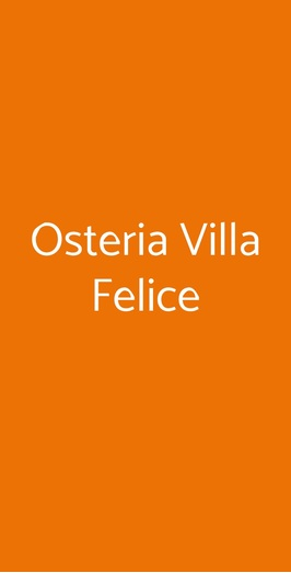 Osteria Villa Felice, Volterra