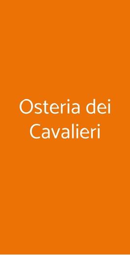 Osteria Dei Cavalieri, Pisa