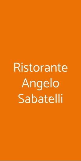 Ristorante Angelo Sabatelli, Monopoli