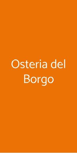 Osteria Del Borgo, Guardistallo
