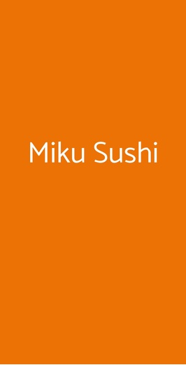 Miku Sushi, Bari