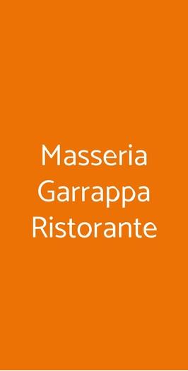 Masseria Garrappa Ristorante, Monopoli