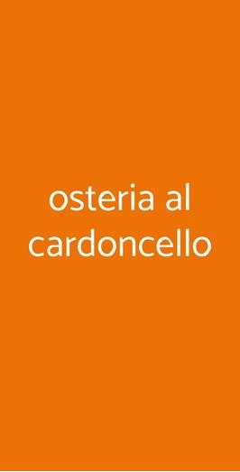 Osteria Al Cardoncello, Gravina in Puglia