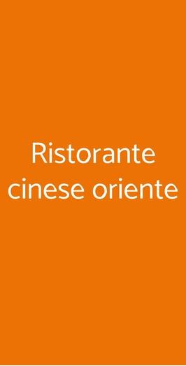 Ristorante Cinese Oriente, Pisa