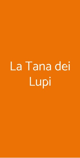 La Tana Dei Lupi, Bari