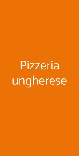 Pizzeria Ungherese, Pisa