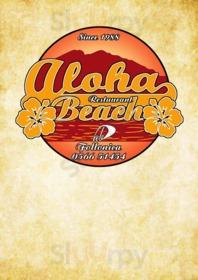 Menu Aloha Beach Ristorante Pizzeria