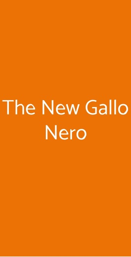 The New Gallo Nero, Monopoli
