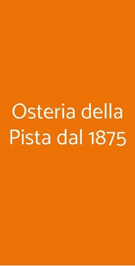 Osteria Della Pista Dal 1875, Casorate Sempione
