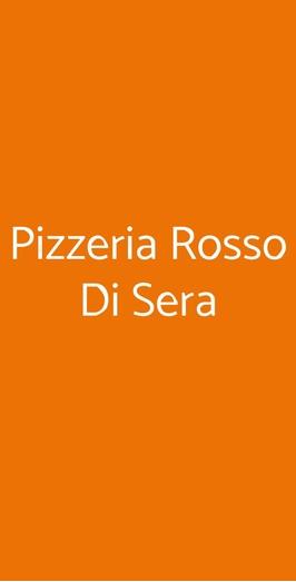 Pizzeria Rosso Di Sera, Bari