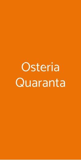 Osteria Quaranta, Arsago Seprio