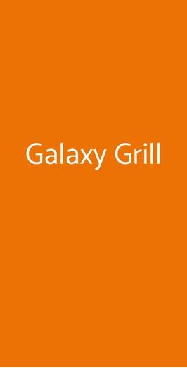 Menu Galaxy Grill