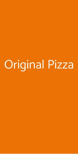 Original Pizza, Olgiate Olona