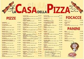 Menu La Casa della Pizza