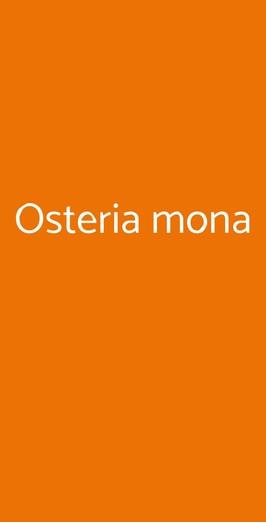 Osteria Mona, Solbiate Arno