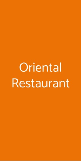 Oriental Restaurant, Varese