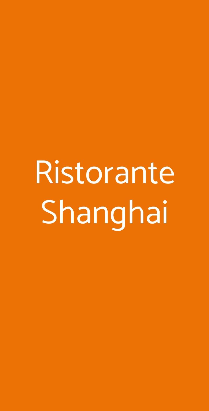 Ristorante Shanghai Comerio menù 1 pagina