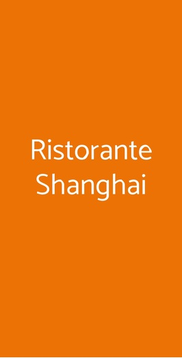 Ristorante Shanghai, Comerio