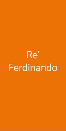 Menu Re' Ferdinando