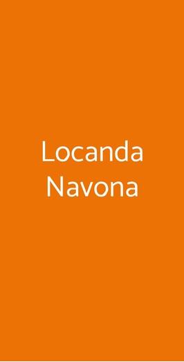 Menu Locanda Navona