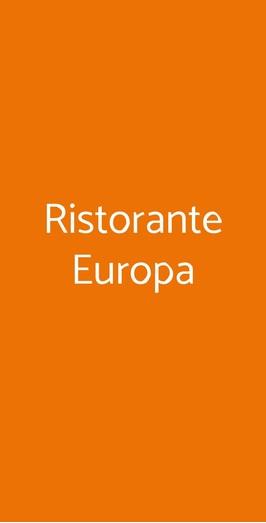 Ristorante Europa, Saronno