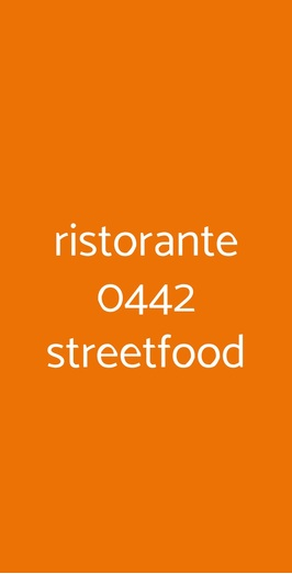 Menu ristorante 0442 streetfood