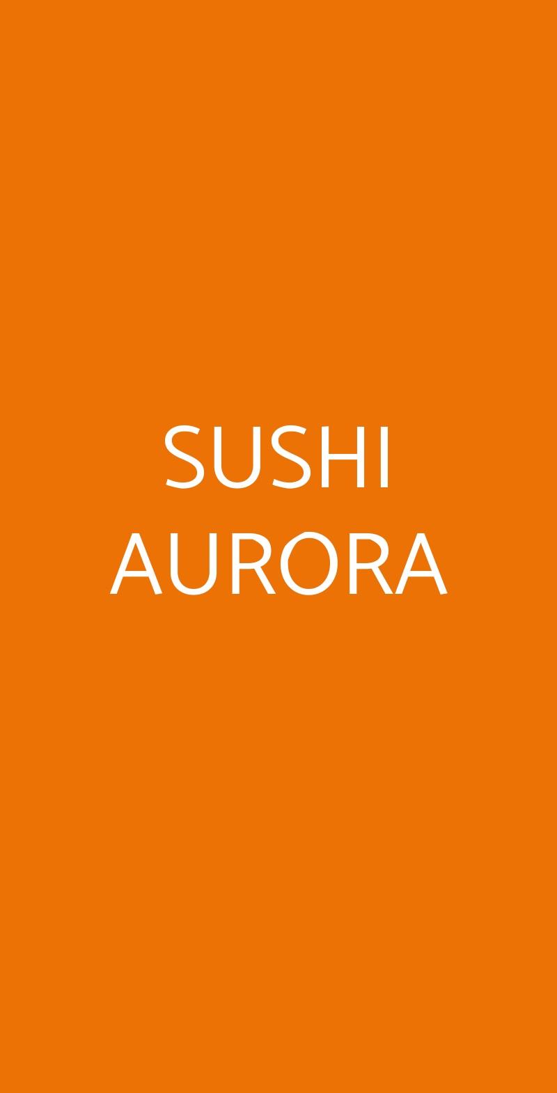 SUSHI AURORA Firenze menù 1 pagina