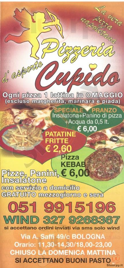 CUPIDO Bologna menù 1 pagina