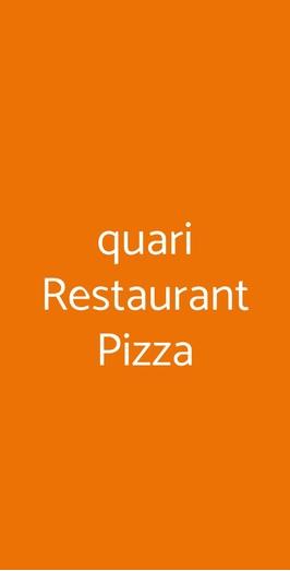 Quari Restaurant Pizza, Cologna Veneta