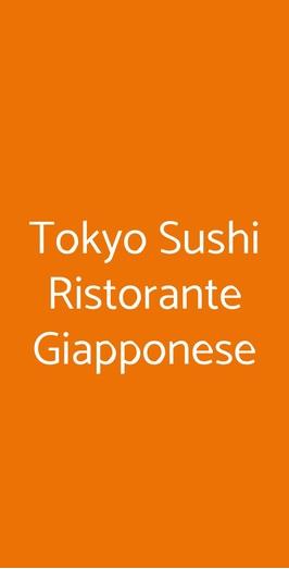 Menu Tokyo Sushi Ristorante Giapponese