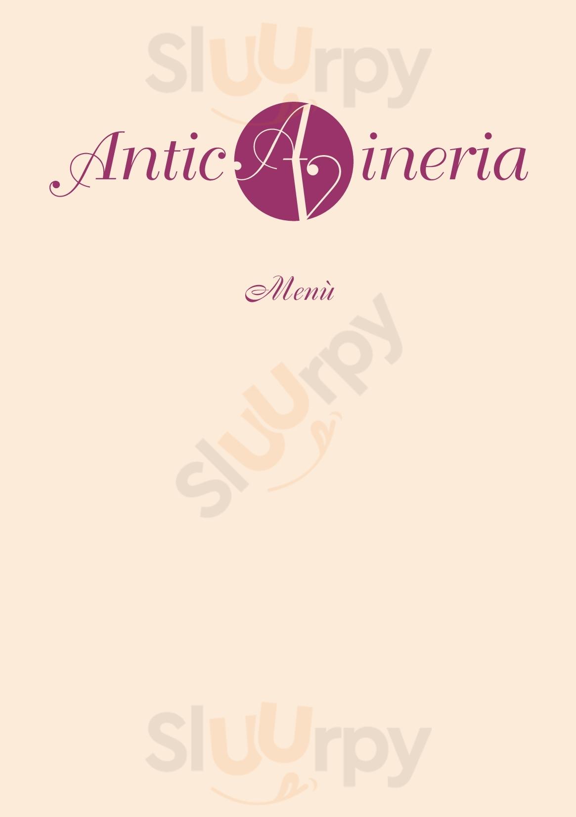 Antica Vineria Prato menù 1 pagina