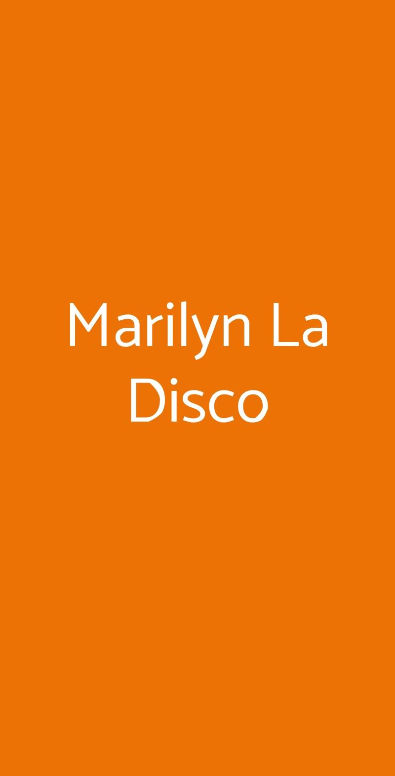Marilyn La Disco Milazzo menù 1 pagina