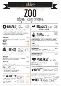 Menu Zoo