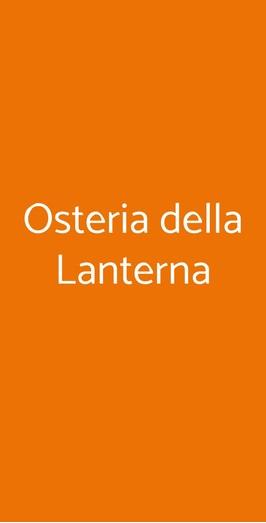 Osteria Della Lanterna, Bologna